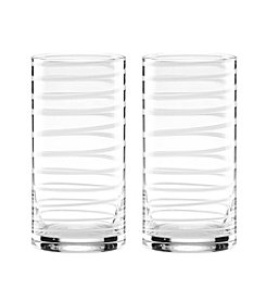 kate spade new york® Set of 2 Charlotte Street White Highball Glasses