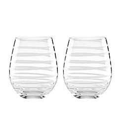 kate spade new york® Set of 2 Charlotte Street Stemless White Wine Glasses