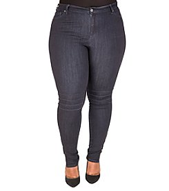 Poetic Justice® Plus Size Marley Moto Skinny Jeans