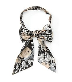 Collection 18 Etched Rose Bow Tie Scarf