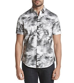 Calvin Klein Men's Woven Crazy Print Button Down Shirt