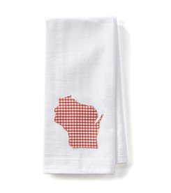Home Sewn Gingham Wisconsin Kitchen Towel
