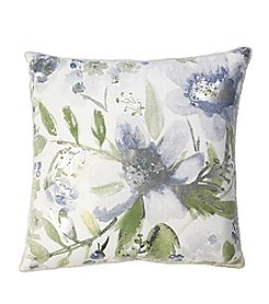 Roslyn Watercolor Floral Decorative Pillow