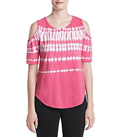 Calvin Klein Performance Cold Shoulder Tie Dye Top