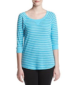 Calvin Klein Performance Raglan Shirttail Pullover Top
