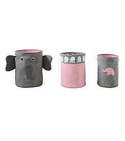 Bintopia 3-pc. Elephant Storage Hamper