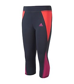 adidas® Girls' 2T-6X Colorblocked Capri Tights