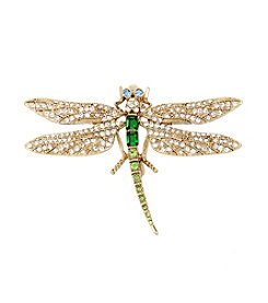 Betsey Johnson Pave Dragonfly Pin
