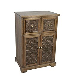 LivingQuarters Old Havana Cabinet with Medallion Pattern Drawers