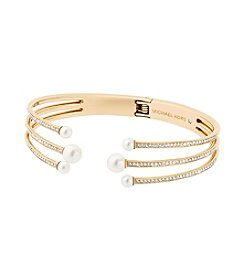 Michael Kors® Crystal And Glass Pearl Hinge Bracelet