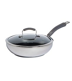Epicurious 4-qt. Stainless Steel Covered Fry Pan with Nonstick Interior