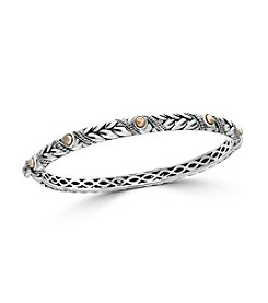Effy® Sterling Silver And 18K Rose Gold Bangle
