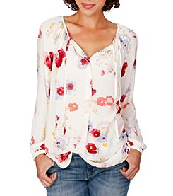Lucky Brand® Major Floral Peasant Top