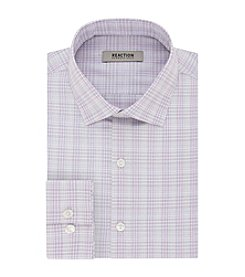 REACTION Kenneth Cole Men's Plaid Spread Dress Shirt