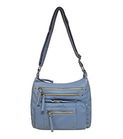 GAL Grainy Washed Multi Zip Pocket Crossbody