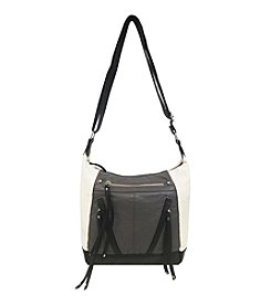 GAL Colorblocked Pebble Washed Multi Zip Crossbody