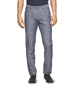 Calvin Klein Men's Cotton Stretch Slub Pants