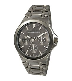 Geoffrey Beene Gunmetal Tone Sport Dress Watch