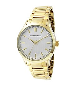 Geoffrey Beene Etched Dial Goldtone Watch