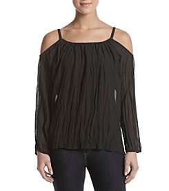 Cupio Cold Shoulder Peasant Top