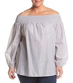 MICHAEL Michael Kors® Plus Size Off Shoulder Stripe Top