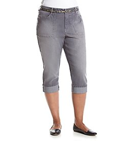 Gloria Vanderbilt® Plus Size Patty Belted Capris