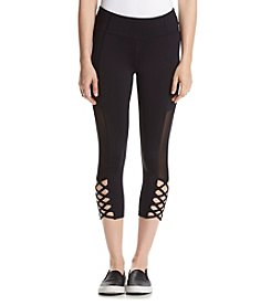 Betsey Johnson Performance® Mesh Insert Cutout Leggings