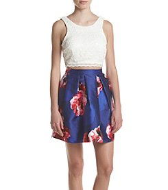 A. Byer Floral Two-Piece Dress