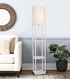 Catalina Lighting Finley Square White Etagere Floor Lamp