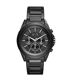 A|X Men's Chronograph Black Stainless Steel Bracelet Watch