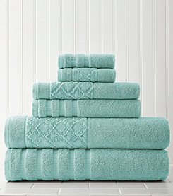 Amrapur Moroccan Collection Velour Diamond 6-pc. Towel Set