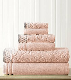 Amrapur Moroccan Collection Damask Jacquard 6-pc. Towel Set