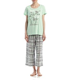 HUE® Printed Pajama Set