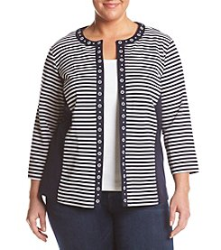 Alfred Dunner® Plus Size Seas Stripe Jacket