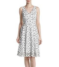 Ivanka Trump® Fit and Flare Flower Dress