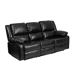 Flash Furniture Harmony Series Leather Sofa with Built-In Recliners