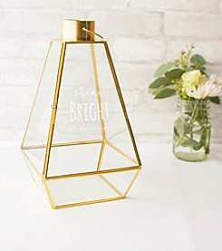Cathy's Concepts Shine Bright Gold Metal Lantern