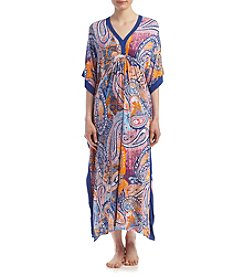 Ellen Tracy® Long Paisley Caftan