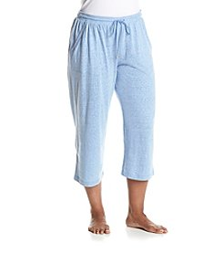 KN Karen Neuburger Plus Size Chambray Capri Pants