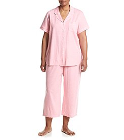KN Karen Neuburger Plus Size Dot Capri Pajama Set