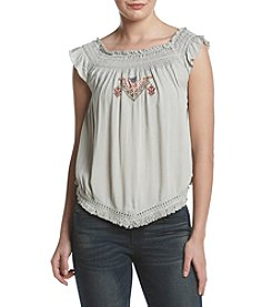 Hippie Laundry Embroidered Off Shoulder Top