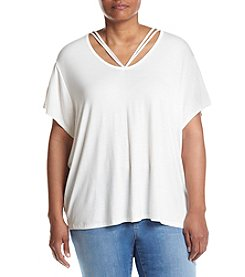 Hippie Laundry Plus Size Strappy V-Neck Tee