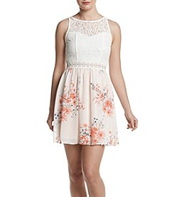 A. Byer Lace And Flower Dress