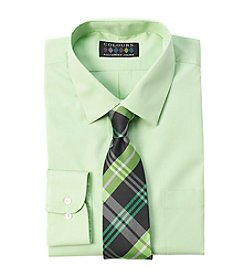 Alexander Julian® Men's Regular Fit Stretch Dress Shirt & Tie Set