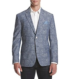 Tallia Orange Men's Paisley Denim Sport Coat