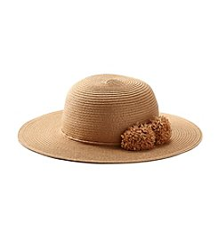 August Hats Petite Poms Floppy Hat