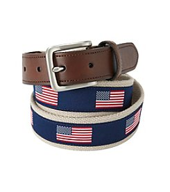 John Bartlett Statements Men's American Flag Print Belt