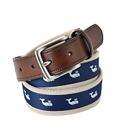 John Bartlett Statements Men's Whale Print Belt