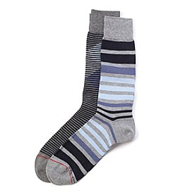 Tommy Hilfiger® Men's 2-Pack Diamond Striped Socks