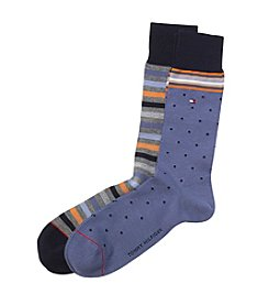 Tommy Hilfiger® Men's 2-Pack Primary Stripe Socks